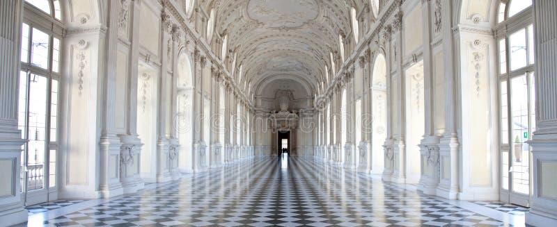Italy - Royal Palace: Galleria di Diana, Venaria. View of Galleria di Diana in Venaria Royal Palace, close to Torino, Piemonte region royalty free stock photography