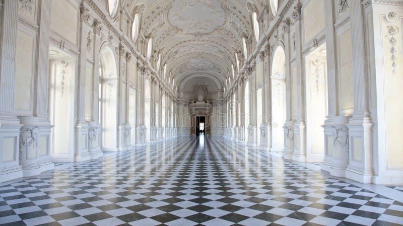 Italy - Royal Palace: Galleria di Diana, Venaria. View of Galleria di Diana in Venaria Royal Palace, close to Torino, Piemonte region stock photos