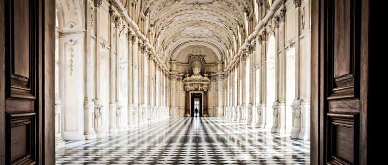 Italy - Royal Palace: Galleria di Diana, Venaria. View of Galleria di Diana in Venaria Royal Palace, close to Torino, Piemonte region royalty free stock photo