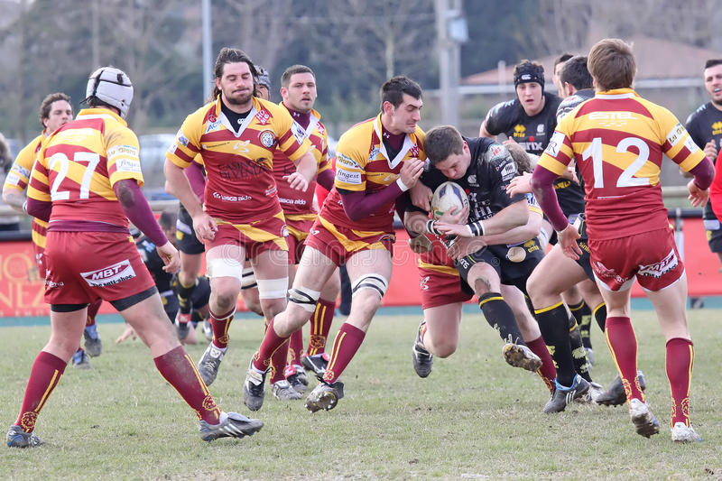 Italy Rugby Federation Cup Match Editorial Image