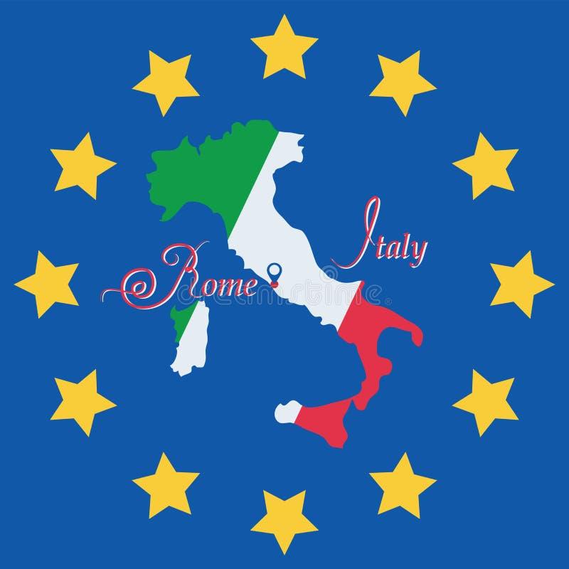 Italy Símbolo mapa ilustração do vetor
