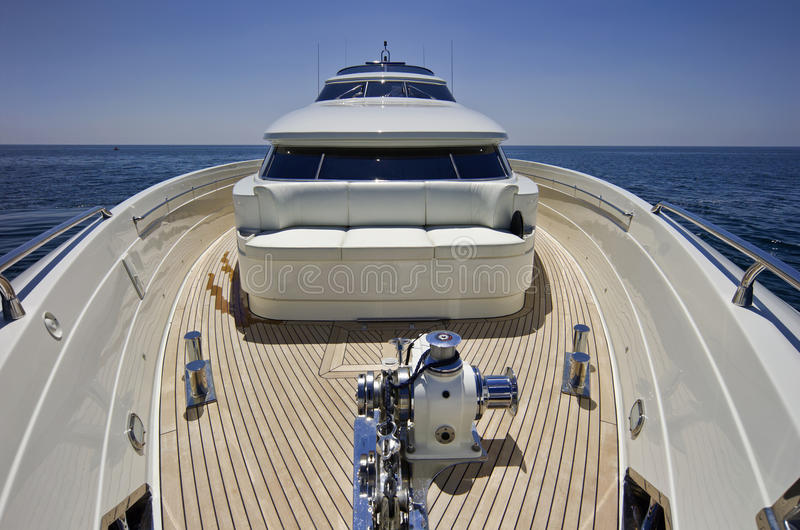 Italy, S.Felice Circeo (Rome), luxury yacht royalty free stock images