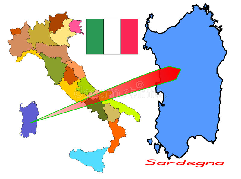 Download Italy, Sardegna stock vector. Image of tricolor, chart - 4675714
