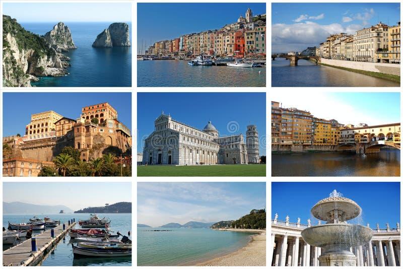Italy. Set of photos. stock image