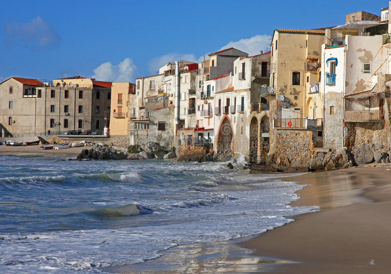 Italy. Sicily island. Cefalu. Italy. Sicily island. View of Cefalu stock photography