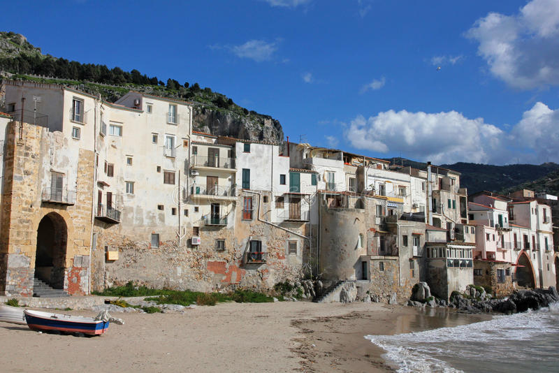 Italy. Sicily island . Province of Palermo. Cefalu. Italy. Sicily island . Province of Palermo. View of Cefalu in spring royalty free stock photo