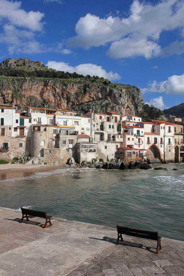 Italy. Sicily island . Province of Palermo. Cefalu. Italy. Sicily island . Province of Palermo. View of Cefalu in spring royalty free stock image