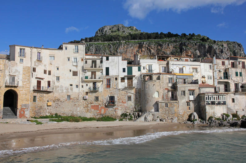 Italy. Sicily island . Province of Palermo. View of Cefalu. In spring stock photography