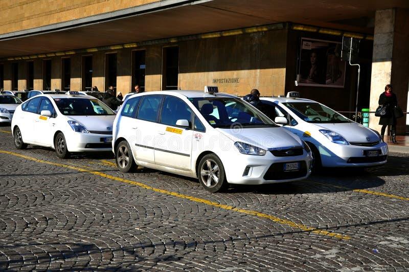 italy staci taxi fotografia stock
