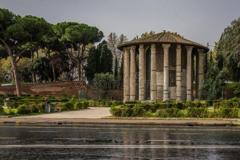 Tempio di Ercole Vincitore History City Rome Empire stock image