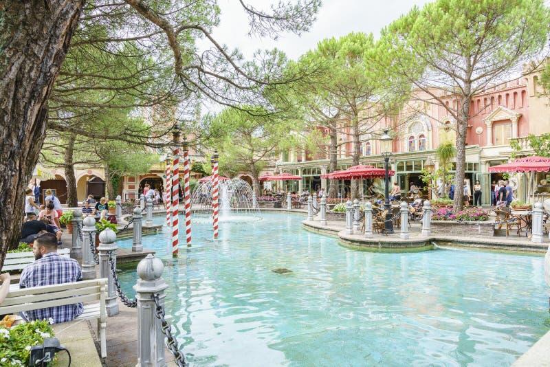 Italy themed area - Europa Park, Germany royalty free stock photo