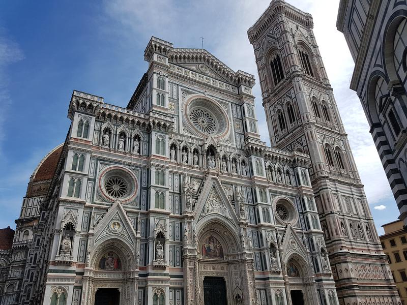 Italy, Florence. Piazza del Duomo and Cathedral Santa Maria del Fiore royalty free stock photo