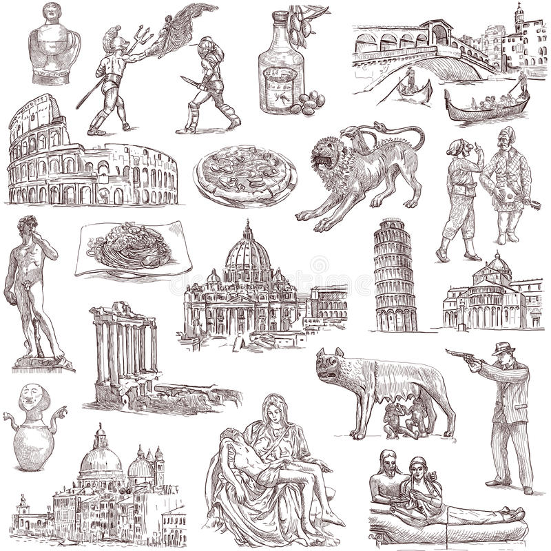 Download Italy stock vector. Illustration of combat, cuisine, architecture - 31877271