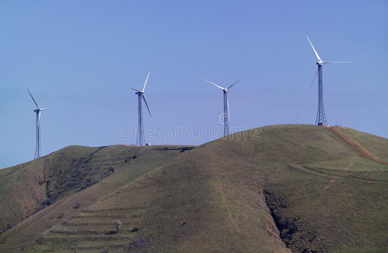 Italy, turbinas eolic da energia imagem de stock royalty free