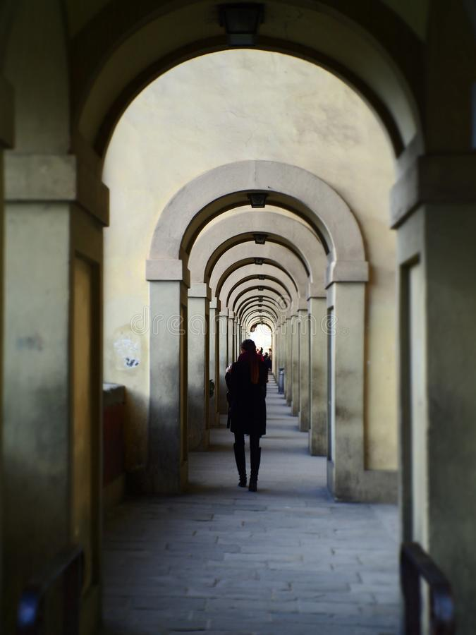 Italy, Tuscany, Florence, the alley in the city center. stock images