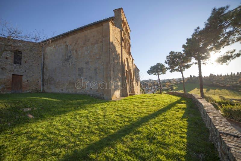 Italy, Tuscany, Gambassi Terme, Florence. The pieve of Santa Maria a Chianni church stock photos