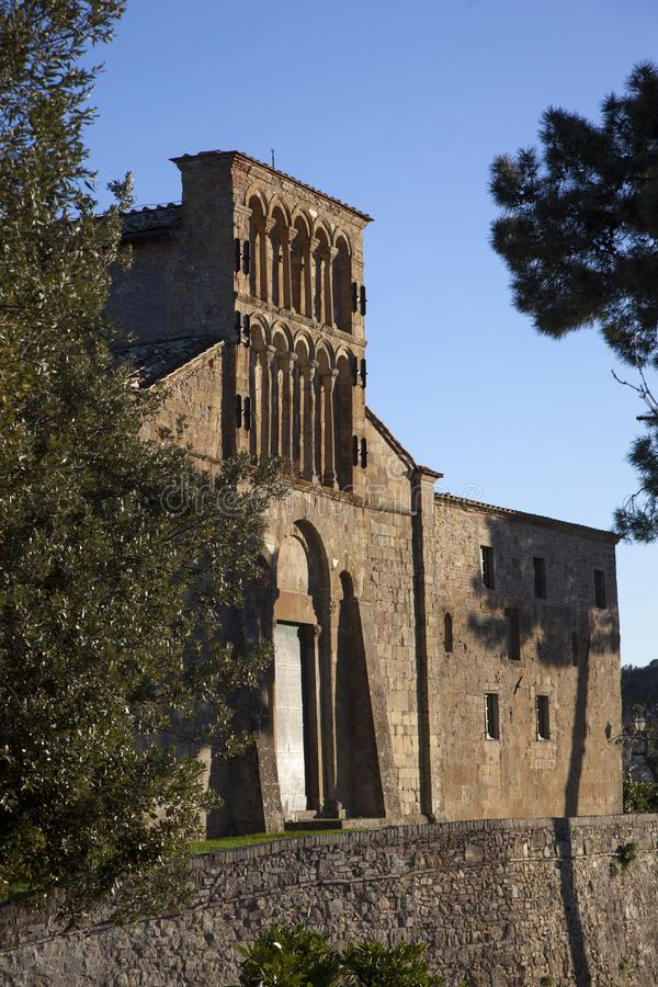 Italy, Tuscany, Gambassi Terme, Florence. The pieve of Santa Maria a Chianni church royalty free stock photos