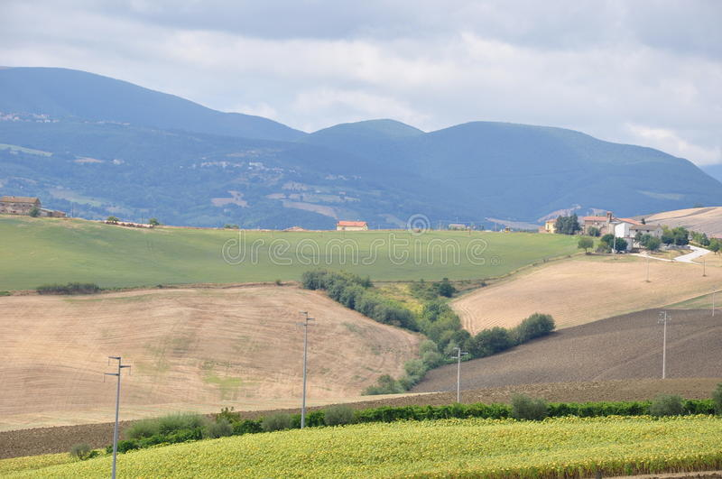 Download Italy Umbria stock image. Image of road, farms, town - 25804545