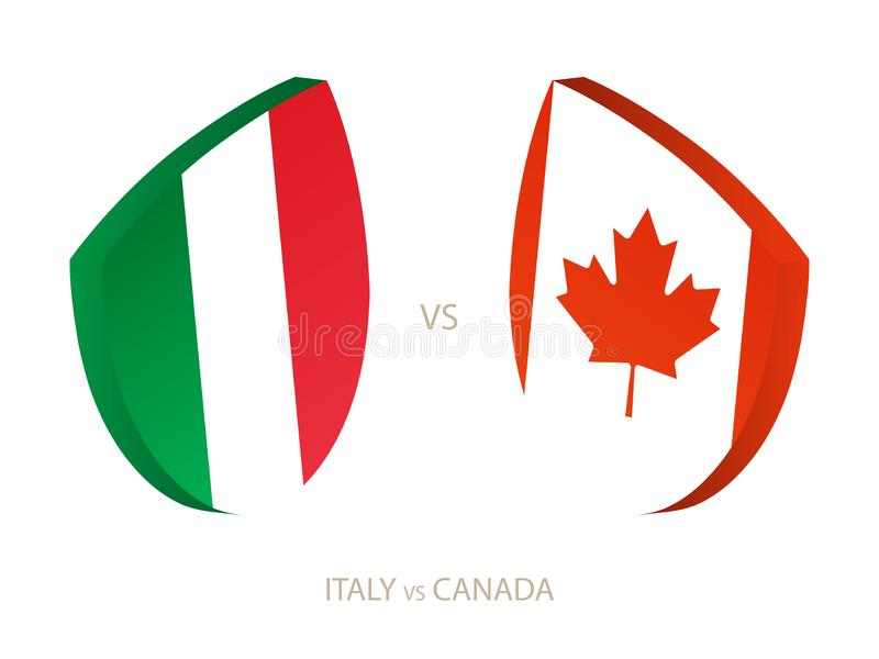 Italy v Canada, icon for rugby tournament royalty free illustration