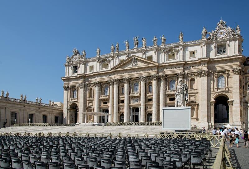 italy vatican Domkyrka St Peter arkivfoton