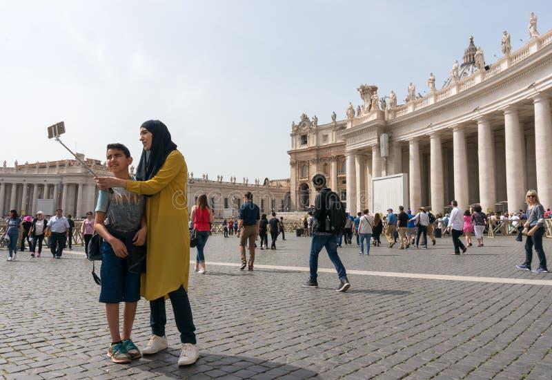 Italy Vatican Saint Peter Square stock image
