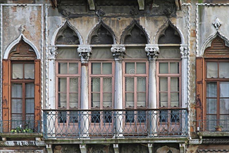 italy venetian fönster royaltyfria bilder