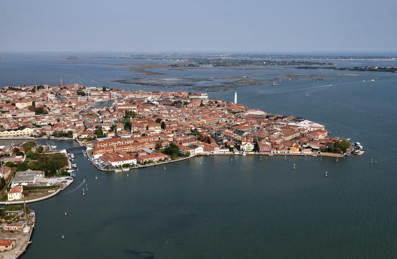 Italy Venice Aerial View Of The City Stock Image Image