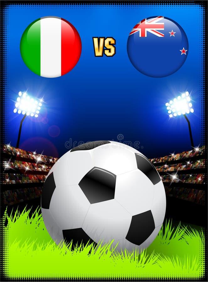 Soccer Fans New Zealand Stock Illustration Illustration