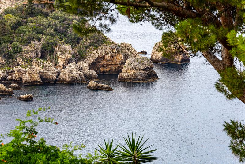 Italy: View of Isola Bella`s island stock image