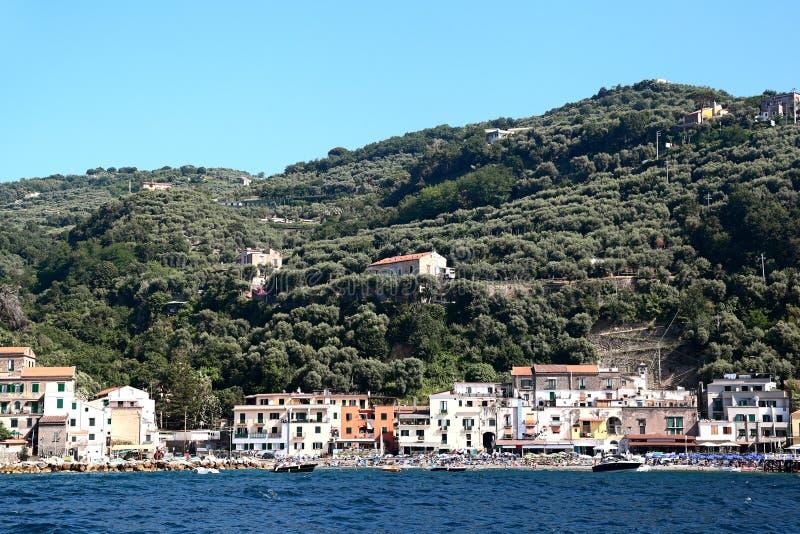 Italy- View of the Sorrentine Peninsula coastline. royalty free stock photos