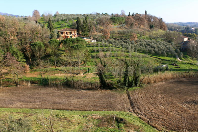 Italy, vila de Vinci foto de stock
