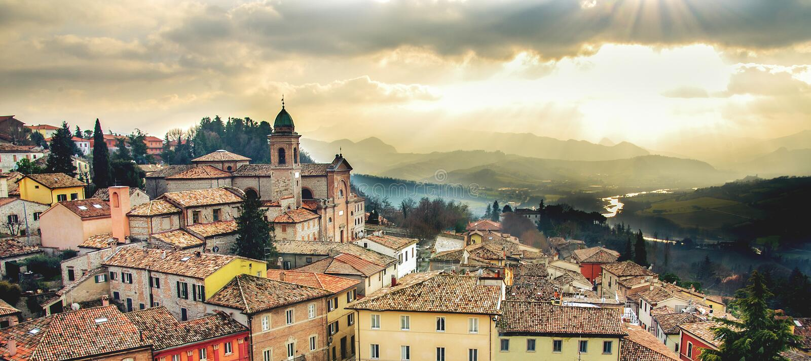 Italy web banner horizontal background emilia romagna region Rimini province local landmarks.  royalty free stock photos