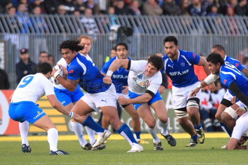 italy zapałczany rugby Samoa test vs zanni obrazy stock