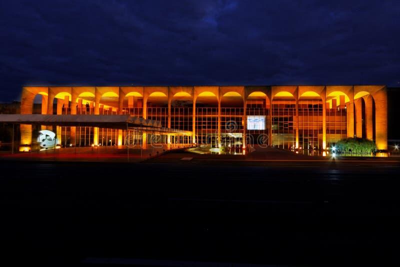 itamaraty brasilia byggnad arkivfoton