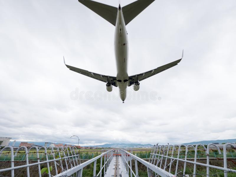 Itami Luchthaven in Japan stock afbeelding