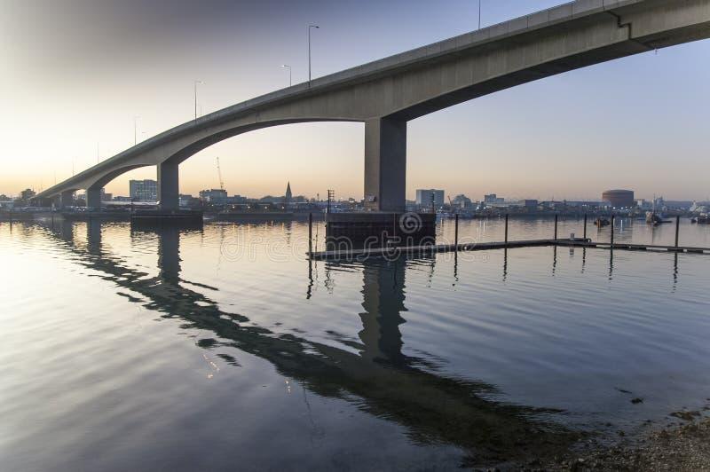 The Itchen Bridge Southampton stock image