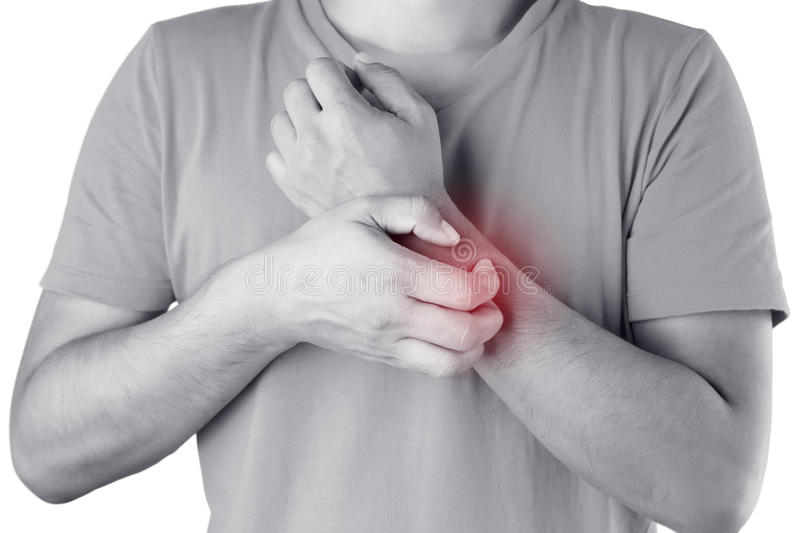 Itching. Male scratch the itch with hand , Hand, itching, Concept with Healthcare And Medicine stock images