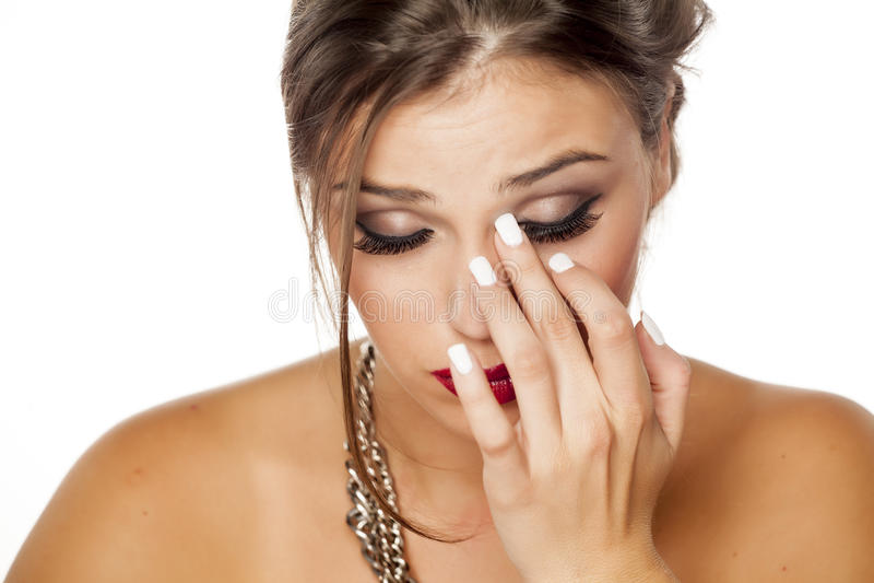 Itchy eye stock photos