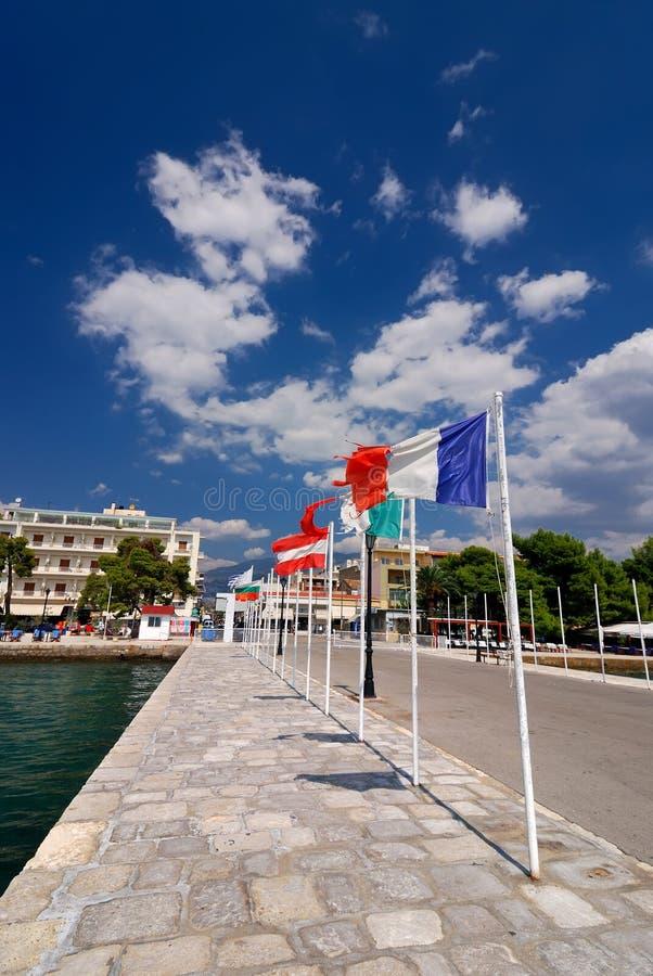 Itea Harbour, Town In Grecee Stock Image