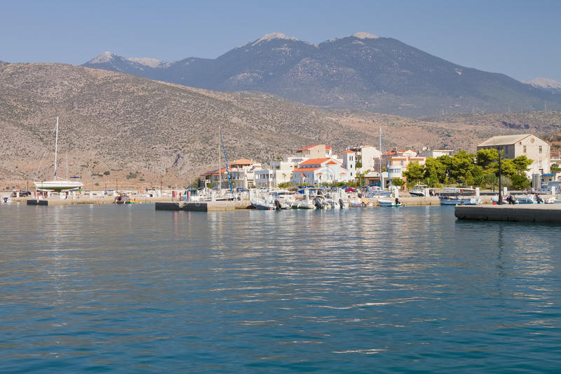 Download Itea Port, Greece stock photo. Image of city, seafront - 26708970
