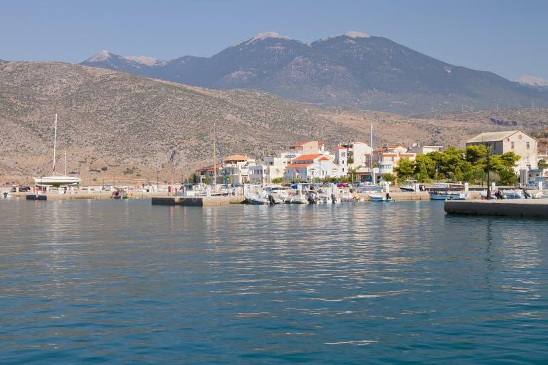 Itea Port, Grekland Arkivfoto