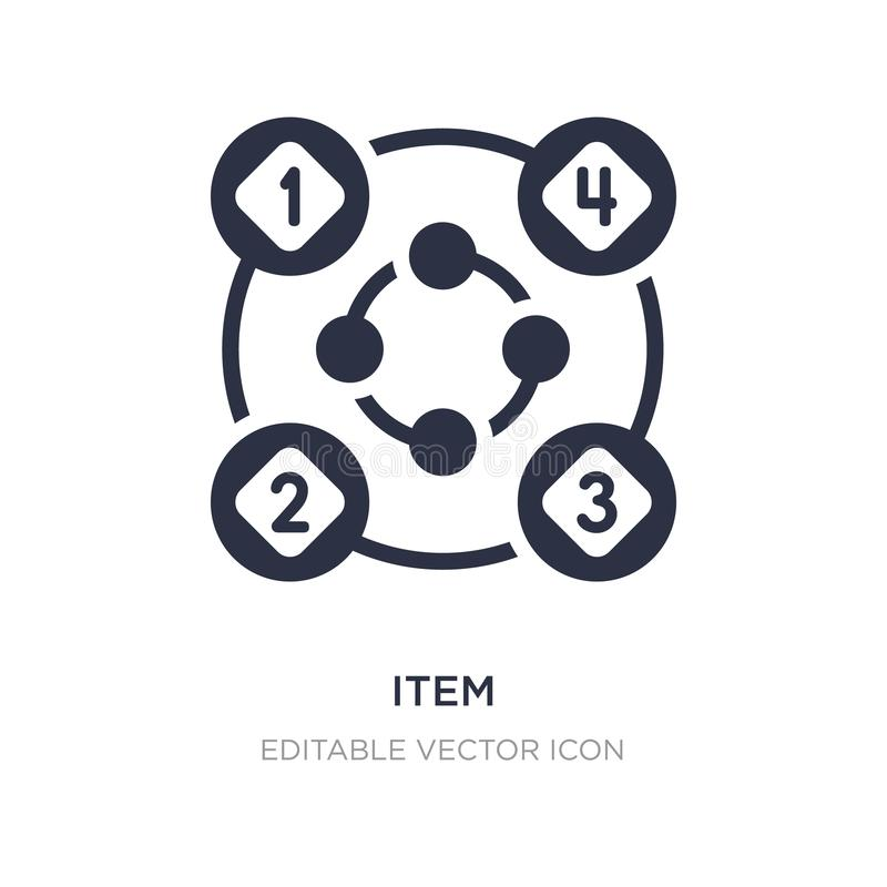 item interconnections icon on white background. Simple element illustration from Business concept vector illustration