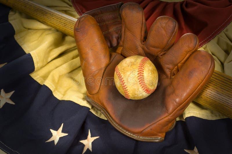 Items antiguos del béisbol fotografía de archivo