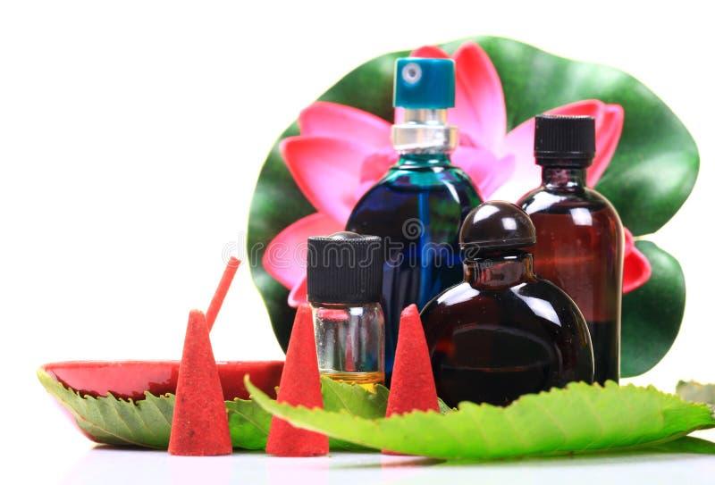 Items de Aromatherapy foto de archivo libre de regalías