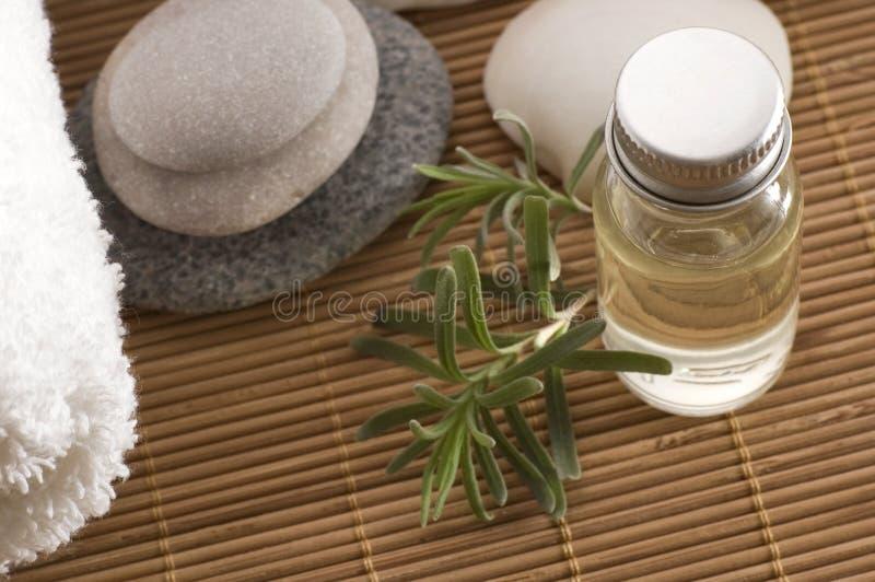 Items de Aromatherapy fotografía de archivo libre de regalías