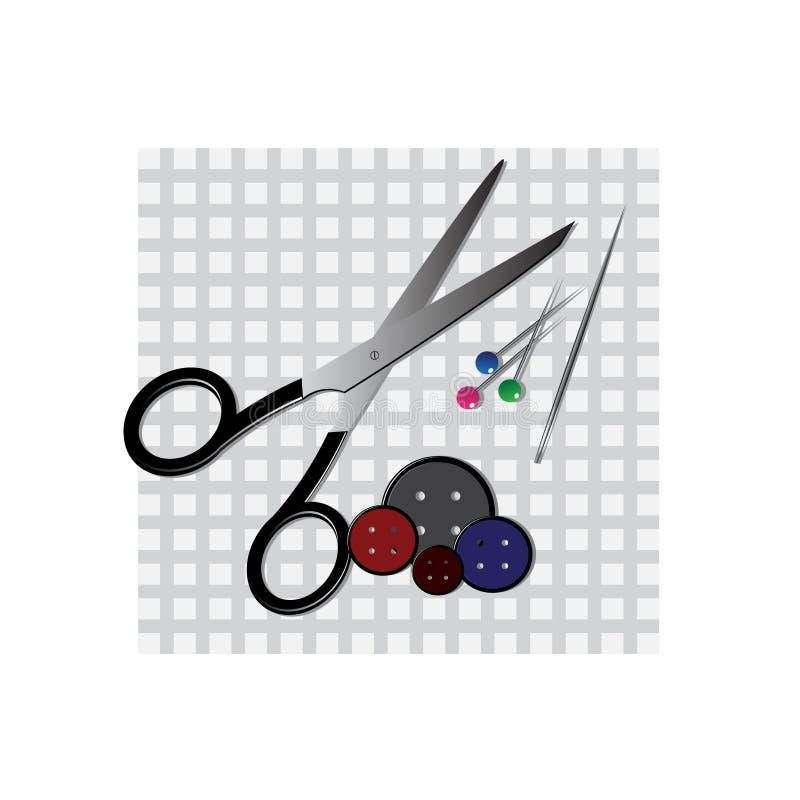Items de costura stock de ilustración