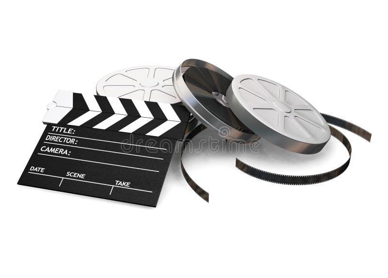 Items de la película ilustración del vector