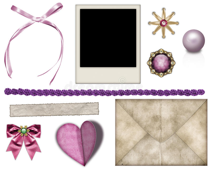Items for decorating photos