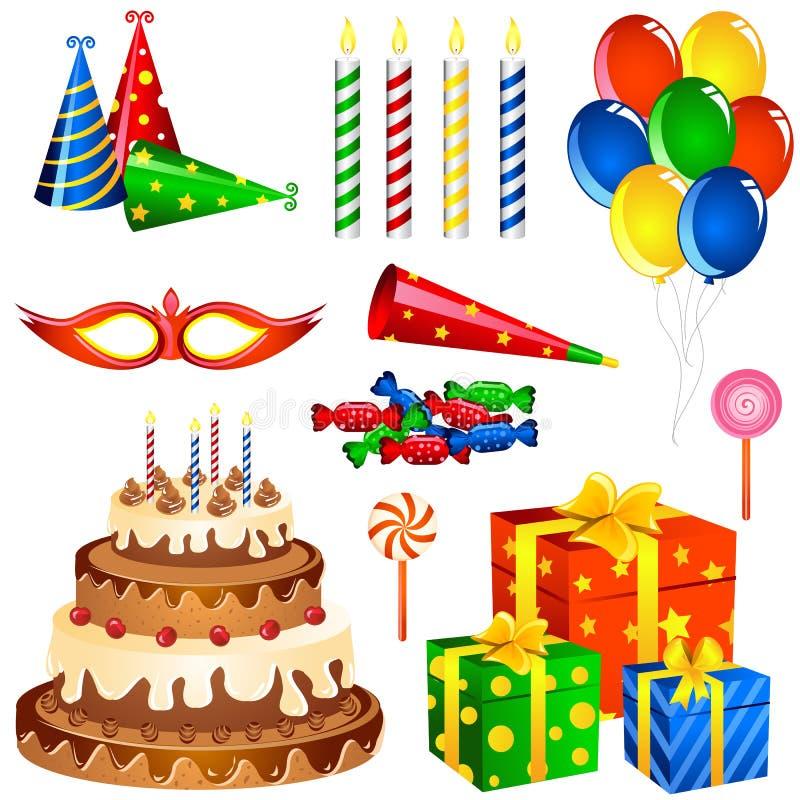 Items del cumpleaños libre illustration
