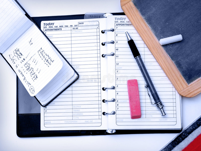 Items del escritorio imagen de archivo